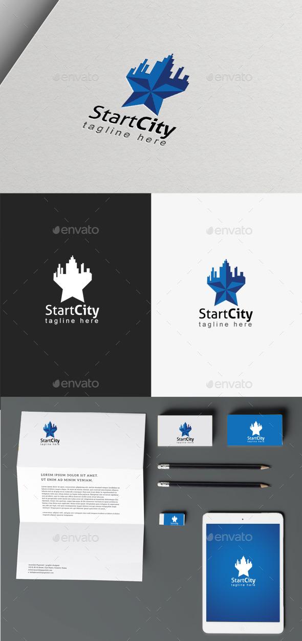 Star City Logo - Buildings Logo Templates