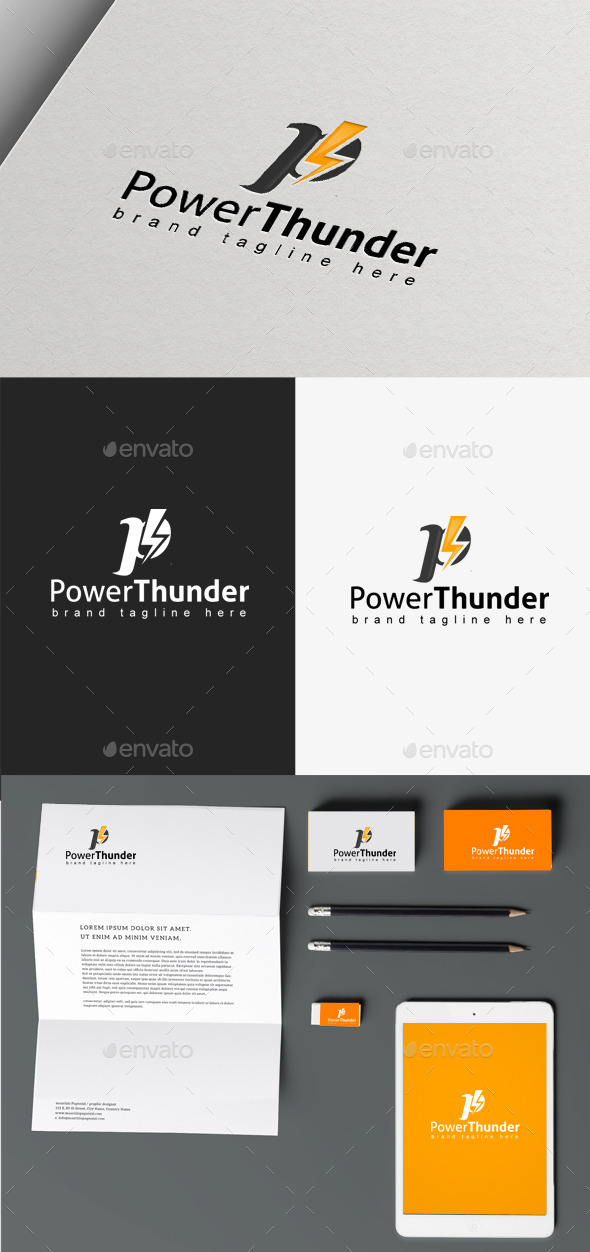 Power Thunder - Nature Logo Templates