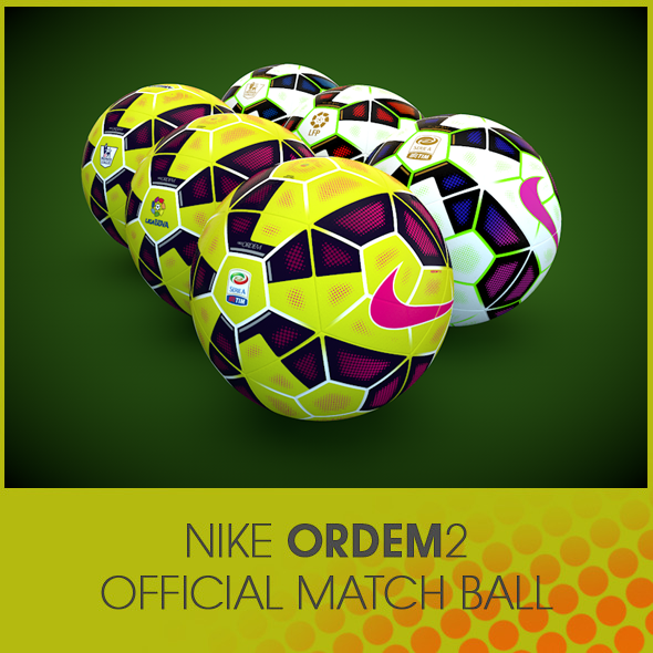 Nike Ordem 2 Official Match Ball - 3DOcean Item for Sale