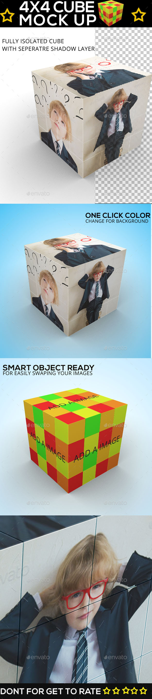 Cube Displayer - Rubik 4x4 Mock Up - Miscellaneous Print