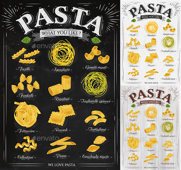 Poster Pasta  - Food Objects