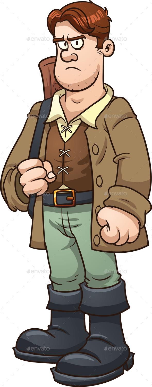 Cartoon Huntsman - People Characters