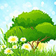 Green Grass with Tree - GraphicRiver Item for Sale