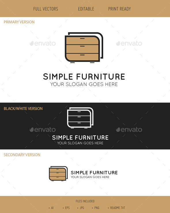 Simple Furniture Logo - Objects Logo Templates