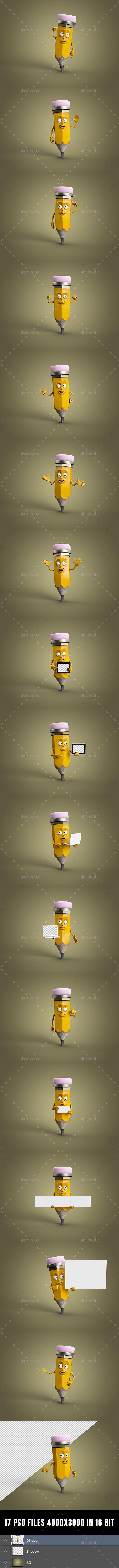 Drawy - Characters 3D Renders