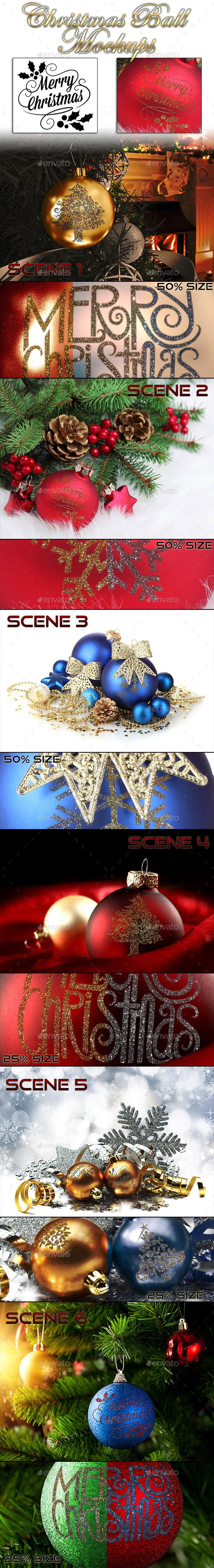 Christmas Ball Mockups - Miscellaneous Print