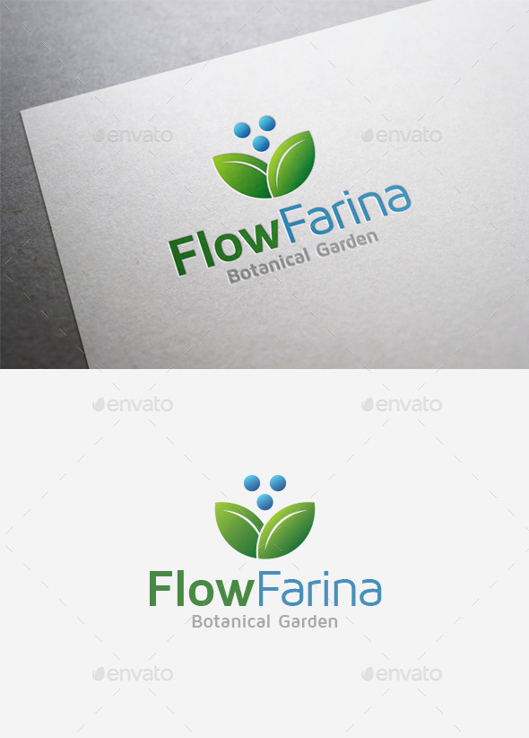 Flower Farina Logo - Nature Logo Templates