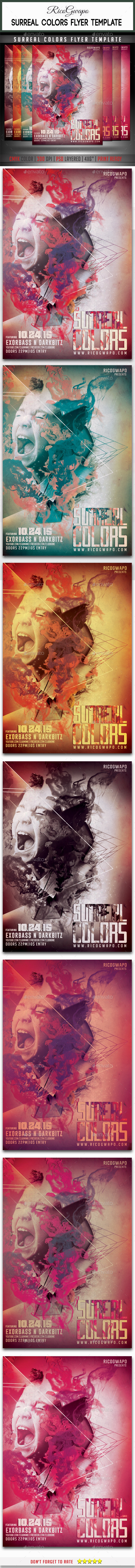Surreal Colors Flyer Template - Flyers Print Templates
