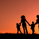 Funny Family Sunset - VideoHive Item for Sale