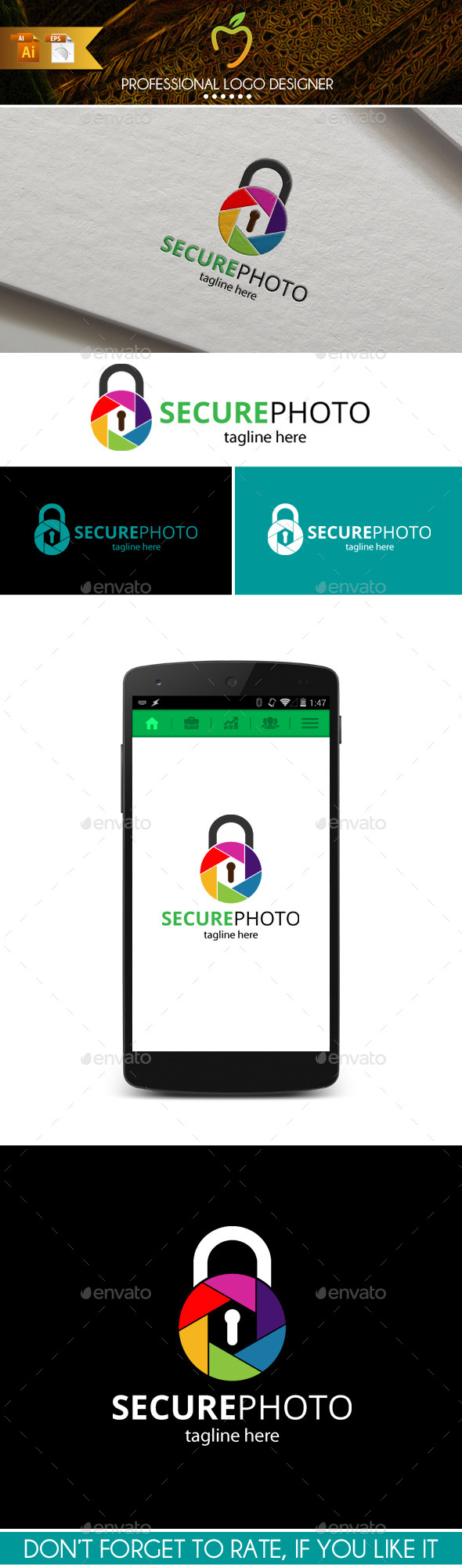 Secure Photo Logo - Symbols Logo Templates