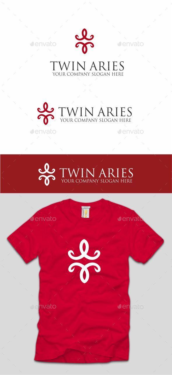 Twin Aries - Symbols Logo Templates