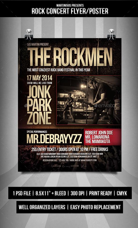 Rock Concert Flyer Templates - Events Flyers