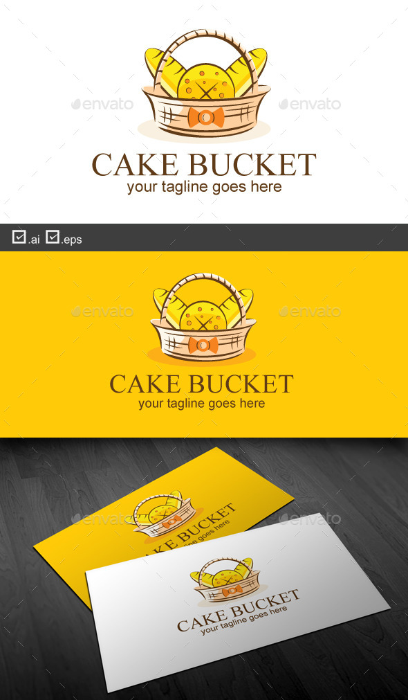 Cake Bucket - Food Logo Templates