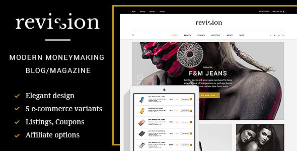 Revision - Elegant e-Commerced Blog and Magazine - Miscellaneous PSD Templates