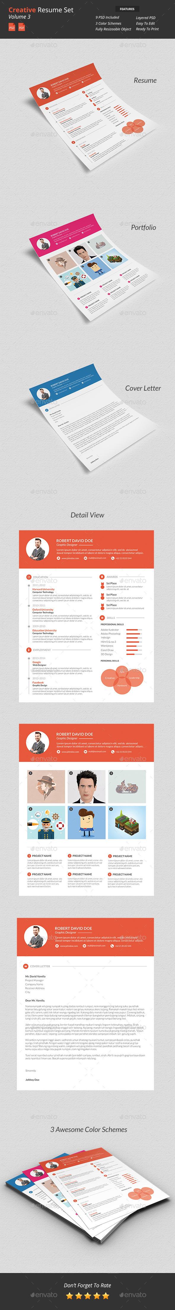 Creative Resume Set v3 - Resumes Stationery