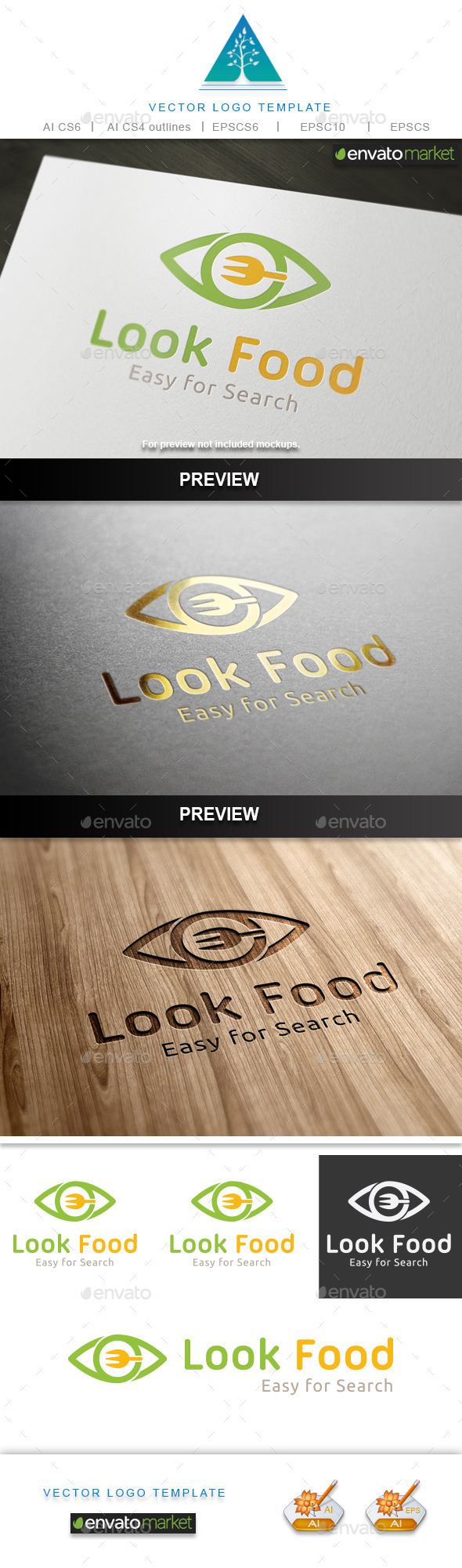 Look Food Logo - Food Logo Templates