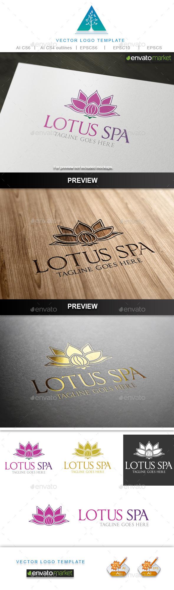 Lotus Spa Logo - Nature Logo Templates