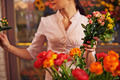 Woman with fresh flowers - PhotoDune Item for Sale
