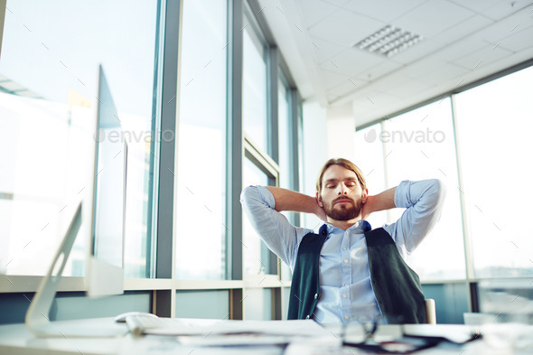 Businessman resting - Stock Photo - Images