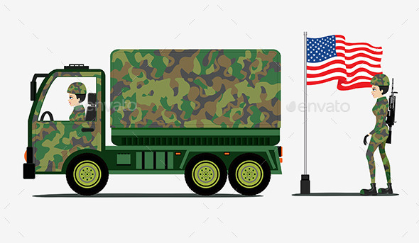 Military Trucks - People Characters