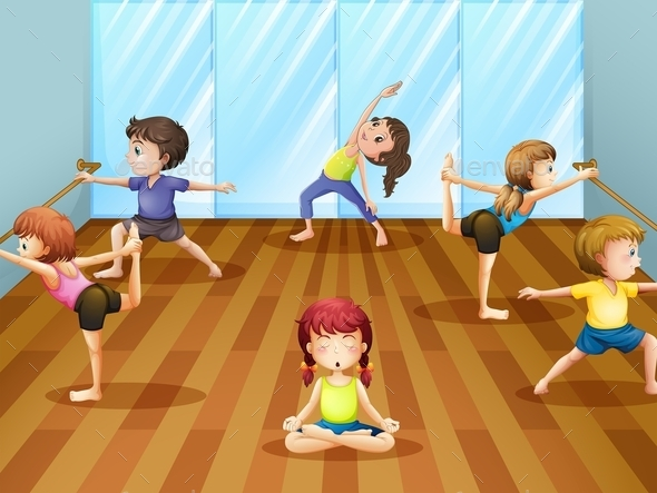 Ballet Class  - People Characters