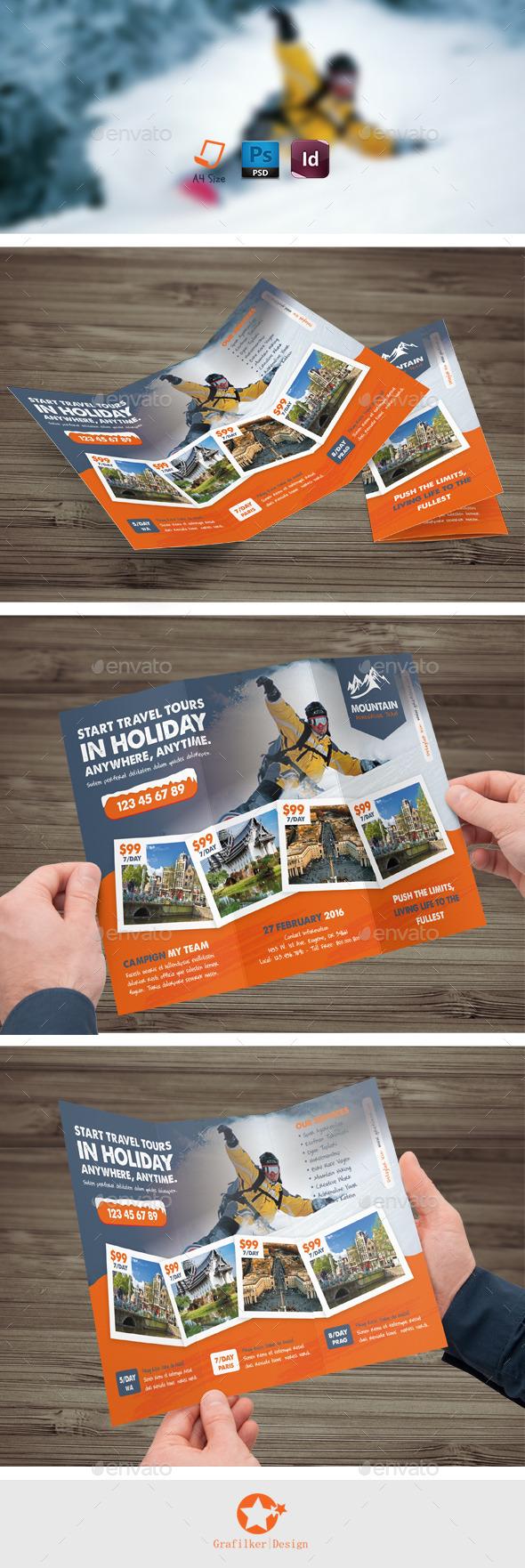 Winter Tour Tri-Fold Templates - Brochures Print Templates
