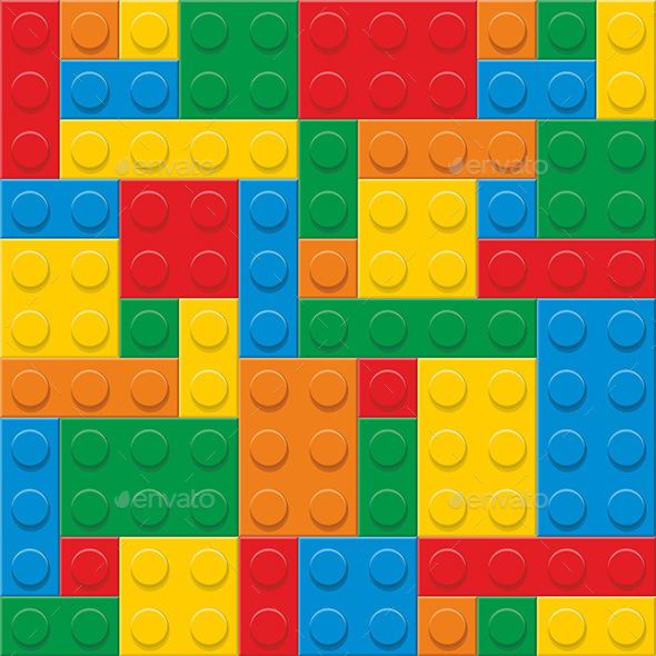 Plastic Construction Blocks - Vectors