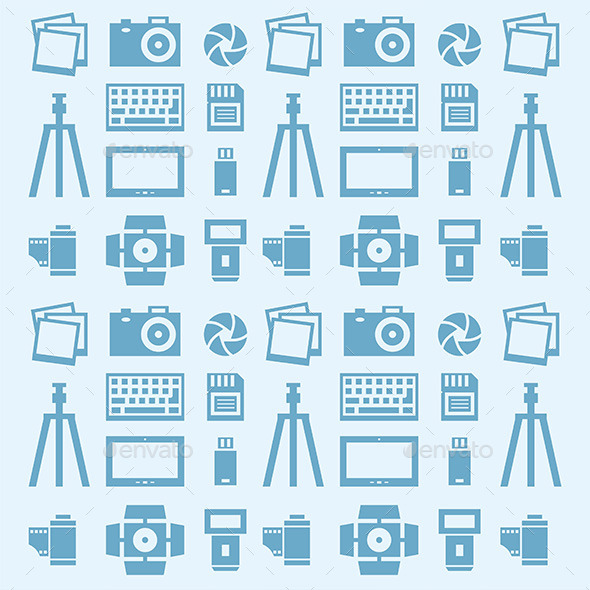 Photographer Pattern - Vectors