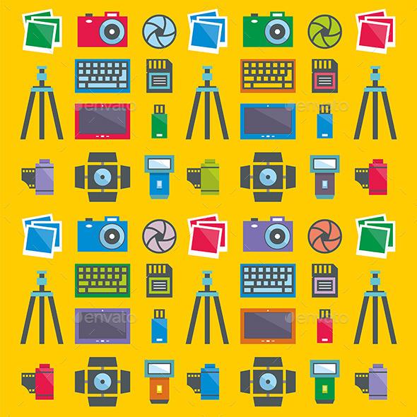 Photographer Pattern - Vectors