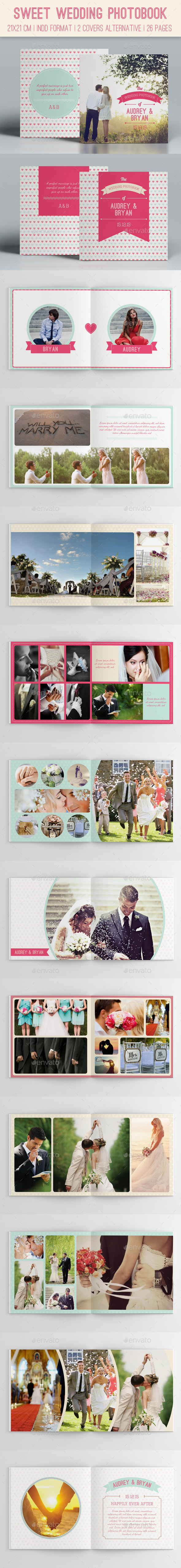 Sweet Wedding Photobook - Photo Albums Print Templates