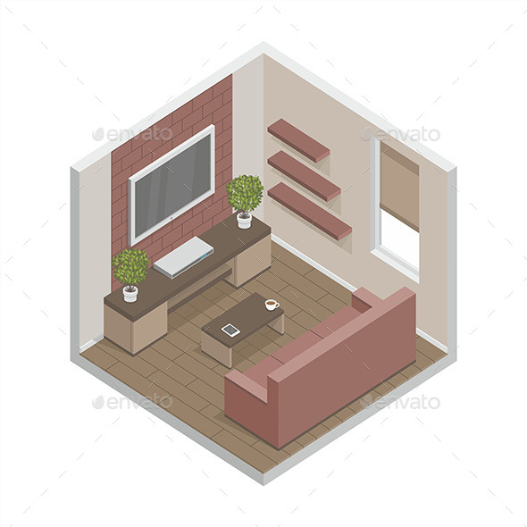 Living Room - Vectors