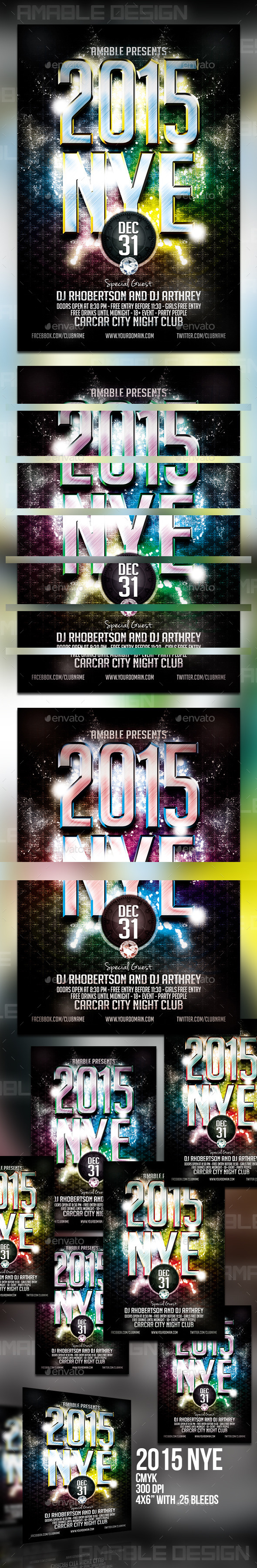 2015 NYE Flyer - Events Flyers