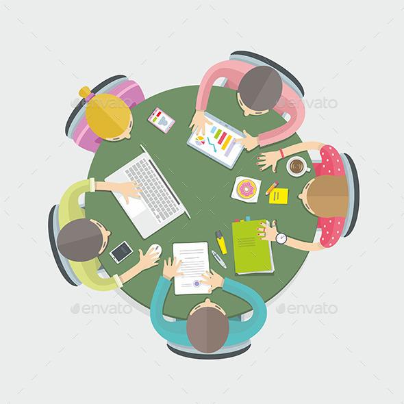 Business Meeting - Vectors