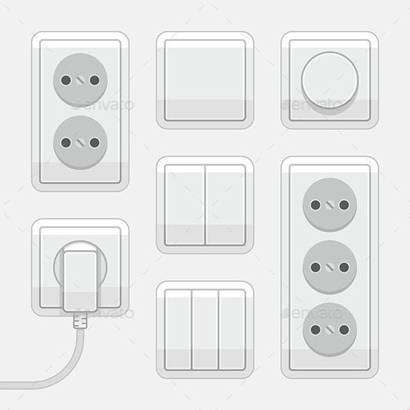 Switches and Sockets - Vectors