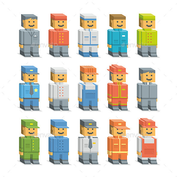 Set Man - People Characters