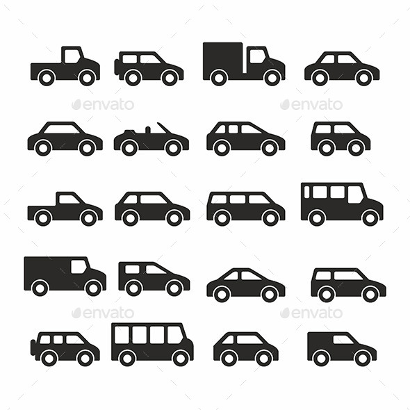 Cars Icons - Vectors