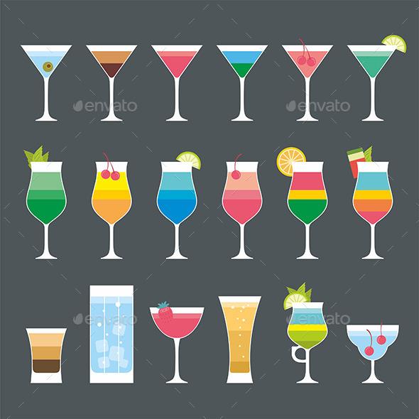 Cocktail Set - Vectors