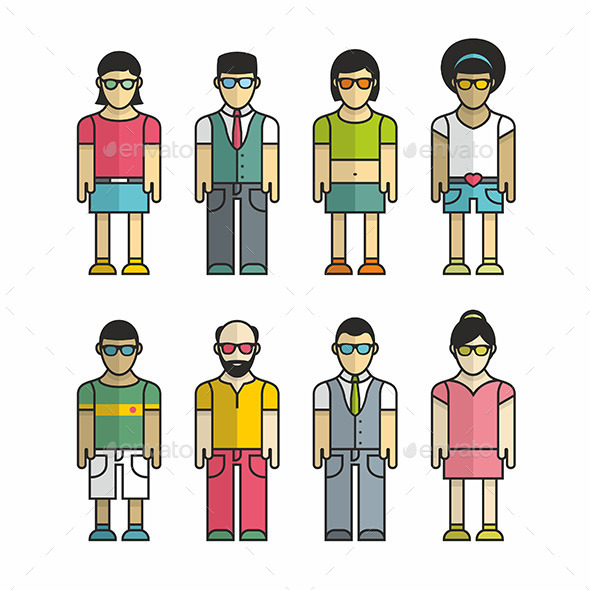 Group of People  - People Characters