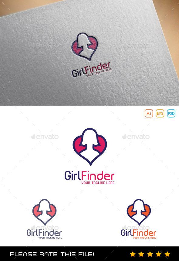 Girl Heart Logo - Humans Logo Templates