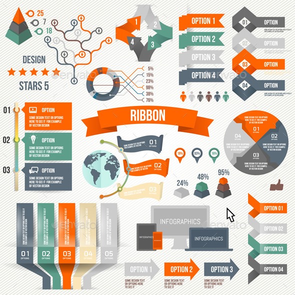 Infographics Set with Options - Infographics