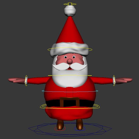 Santa - 3DOcean Item for Sale