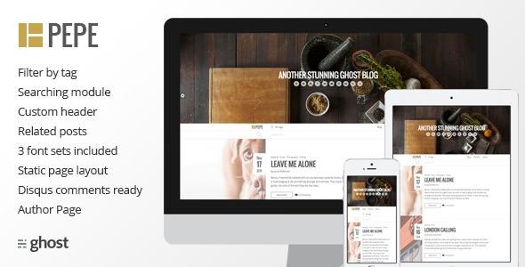 Pepe - Multipurpose Responsive Theme - Ghost Themes Blogging