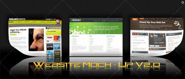 WebSite Mock-Up V2.0 - Website Displays