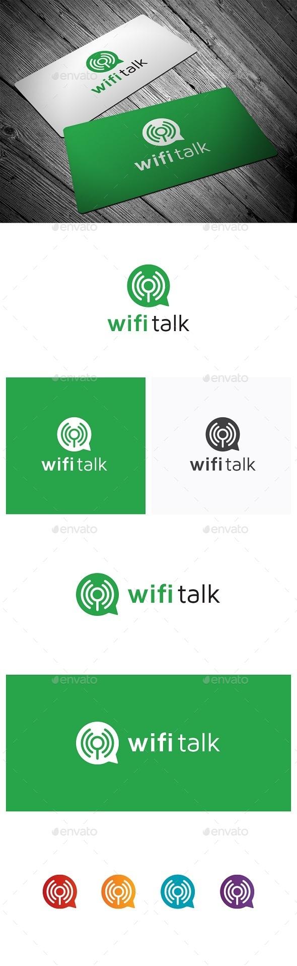 Wifi Talk - Symbols Logo Templates