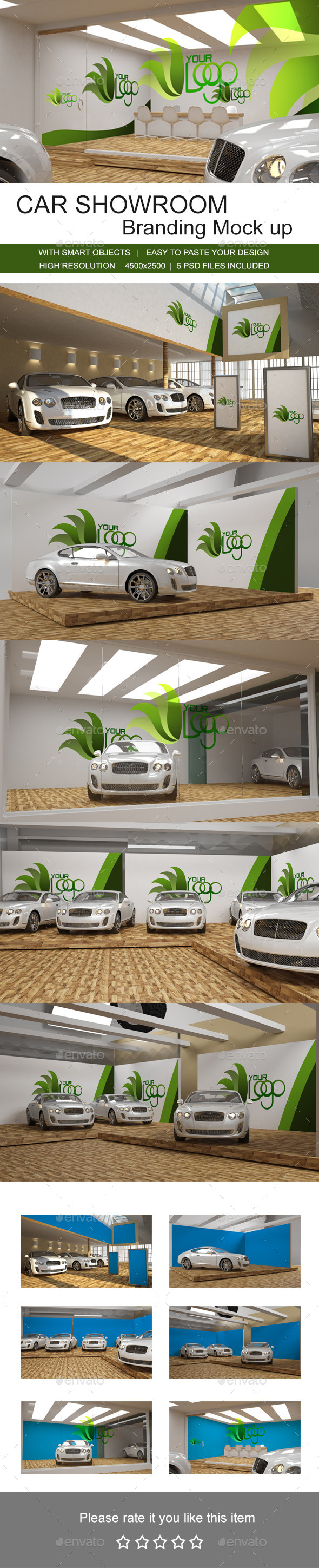Car Showroom Branding Mock up - Miscellaneous Print