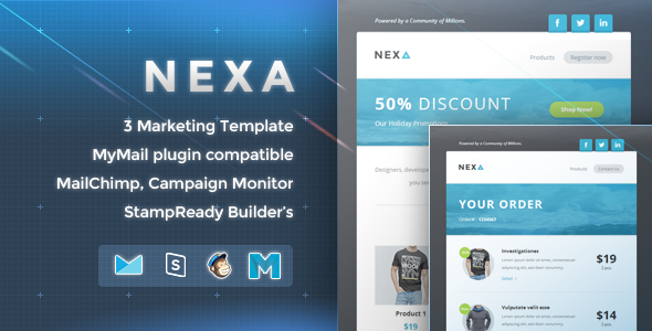 Nexa - Marketing Newsletter - Email Stationery Email Templates