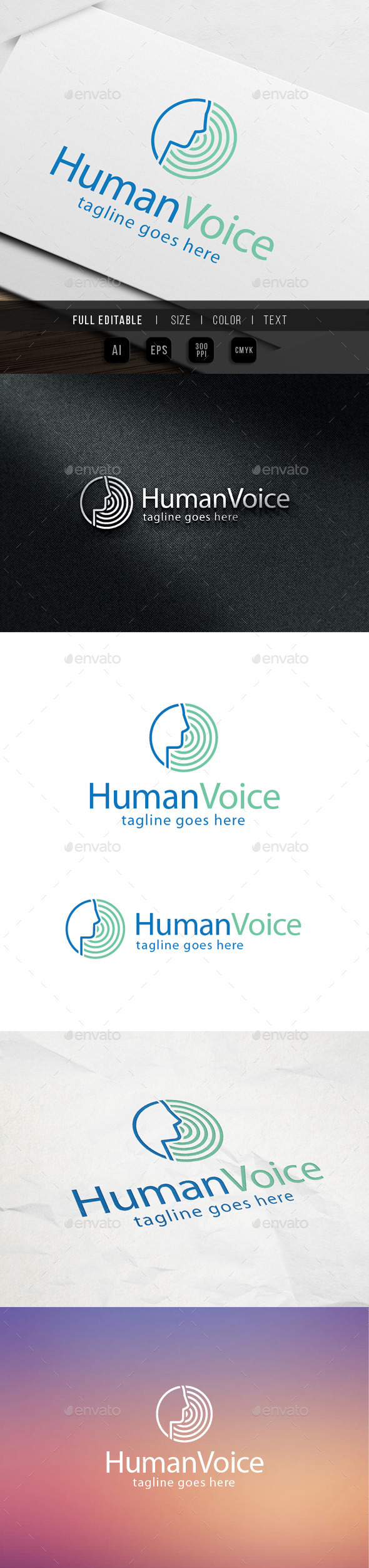 Human Voice Logo - Humans Logo Templates