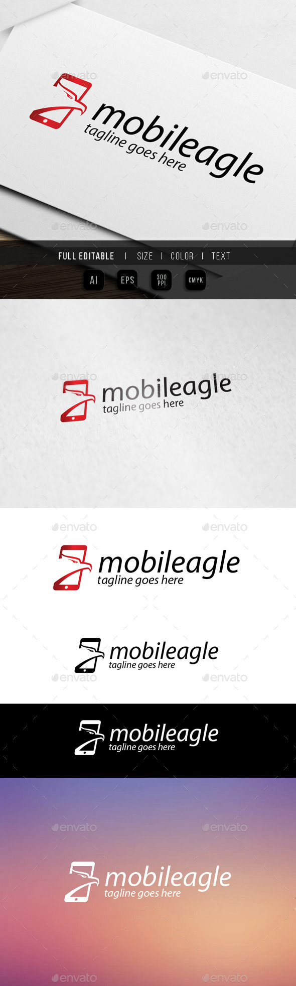 mobile eagle logo - Abstract Logo Templates