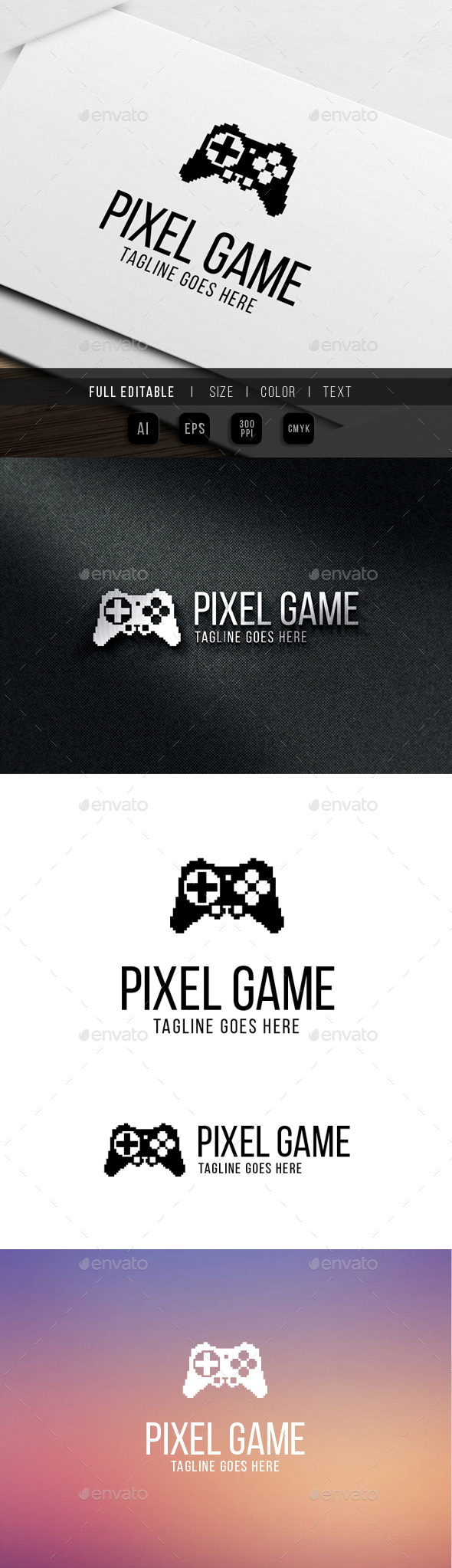 pixel game logo - Objects Logo Templates
