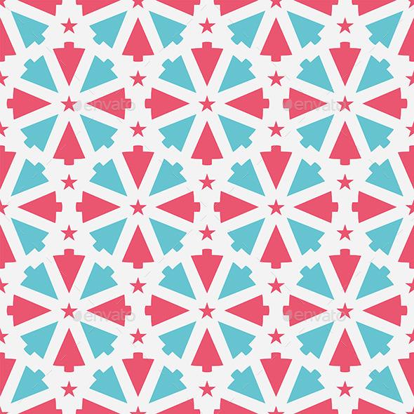 Christmas Tree Pattern - Vectors